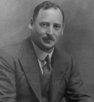 アングロ・アメリカン社創業者、アーネスト・オッペンハイマー卿の写真