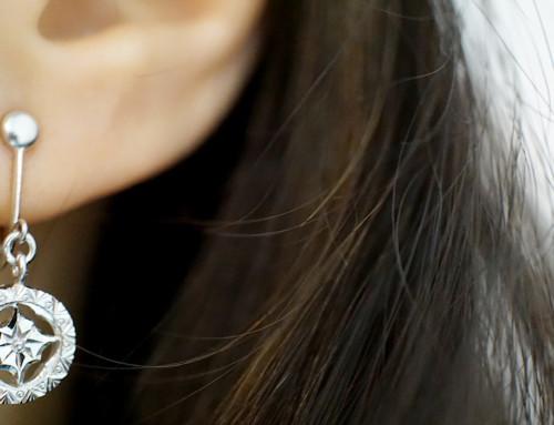 フィレンツエ彫りのイヤリング